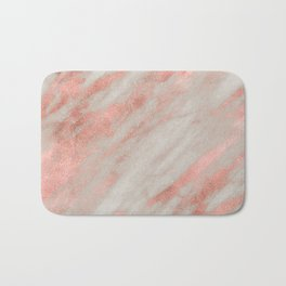 Smooth rose gold on gray marble Bath Mat