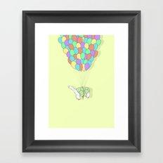 Turtle Adrift Framed Art Print
