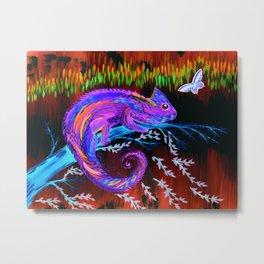 Chameleon at Night Metal Print