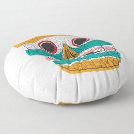 Stripy Skull  Floor Pillow