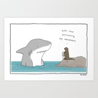 newspaper Art Prints featuring Newspaper by Liz Climo