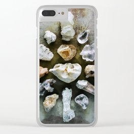 Crystalline Love Connection Clear iPhone Case