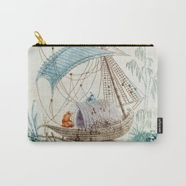 Chinoiserie Embroidery Carry-All Pouch
