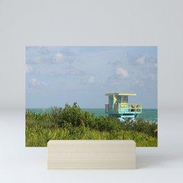 Caribbean Colored Lifeguard Station At Miami Beach Mini Art Print