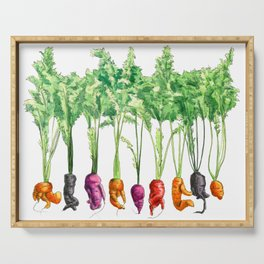 Funky Vegetables Serving Tray