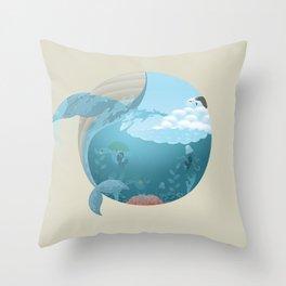 Whale Jump Throw Pillow