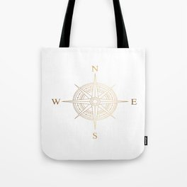 Gold Compass Tote Bag