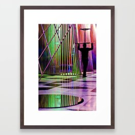The Table Framed Art Print