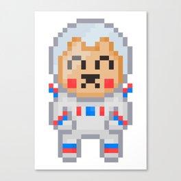 8Bit Astrobear Canvas Print