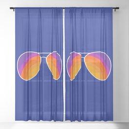 Rainbow Shades Sheer Curtain