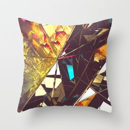 Fractured Time Throw Pillow
