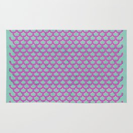 Mermaid Scales Violet Rug