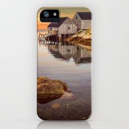 Peggy's Cove Harbor at Sunset in Nova Scotia iPhone Case