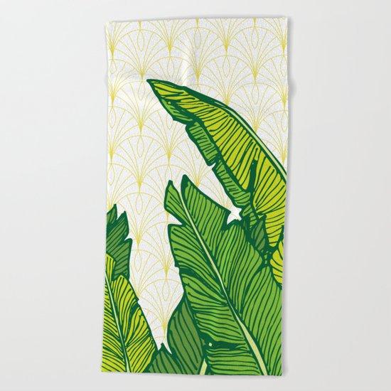 Tropical Leaves #society6 #decor #buyart Beach Towel