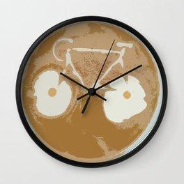 Cycling Latte Art Wall Clock