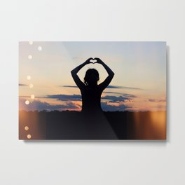 Love and Sunsets Metal Print
