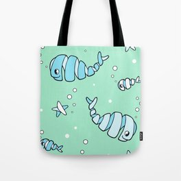 Whirly Whales and Funny Fish Tote Bag