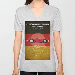 Nürburgring Vintage Fangio D50 Longnose Unisex V-Neck