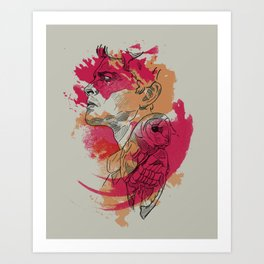 Castiel   Silent Hunter Art Print