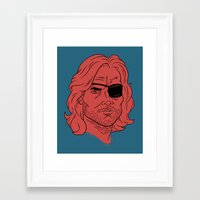 snake Framed Art Prints featuring Snake by Derek Eads