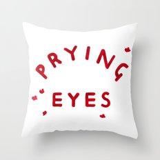Prying Eyes Throw Pillow