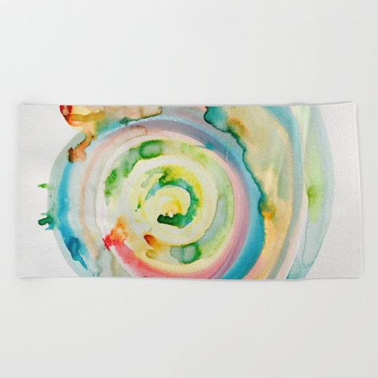 Miami Beach Watercolor #4 Beach Towel