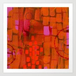 Brick Layers Art Print