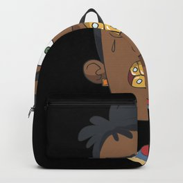 Gangster with gold teeth Backpack