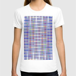 rhombus blue T-shirt