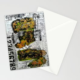 Destination Nowhere - Mixed Media Acrylic Pebeo Abstract Modern Art, 2015 Stationery Cards