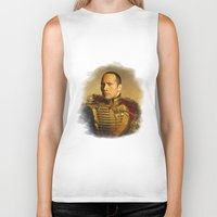 allyson johnson Biker Tanks featuring Dwayne (The Rock) Johnson - replaceface by replaceface