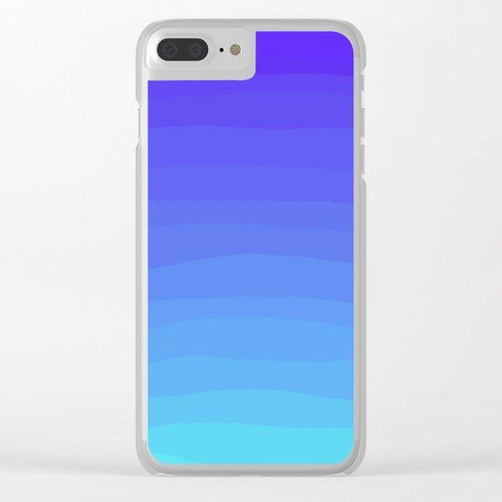 Cobalt Light Blue gradient Clear iPhone Case