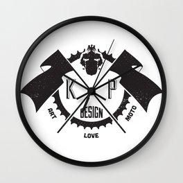 KP Design : Art - Love - Moto Crest Logo Wall Clock