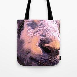 """Goat Face"" Tote Bag"
