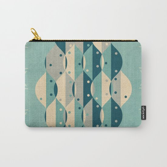 50's floral pattern IV Carry-All Pouch