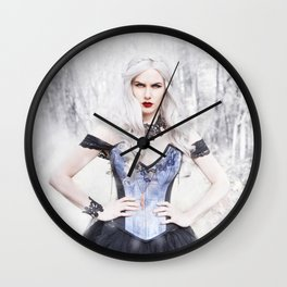 Winter Witch Wall Clock