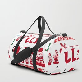 winter gear white Duffle Bag