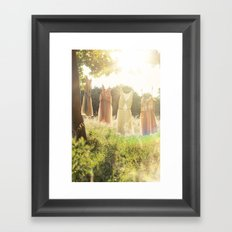 Lace laundry Framed Art Print