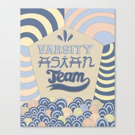 Varsity Asian Team Canvas Print