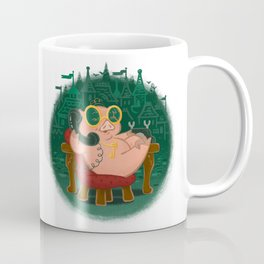 Emerald Piggy Coffee Mug