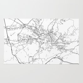 Minimal City Maps - Map Of Florence, Italy. Rug