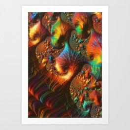 Fractal Art: Fabled Paths Art Print