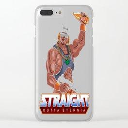 Straight Outta Eternia Clear iPhone Case