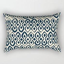 brocade indigo ivory Rectangular Pillow