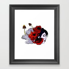 Poppies and Mushrooms Framed Art Print