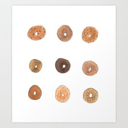 Nine Bagels Art Print