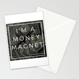 I am a money magnet affirmation Stationery Cards