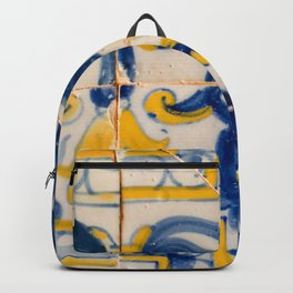 Portuguese azulejos, city of Ericeira Backpack