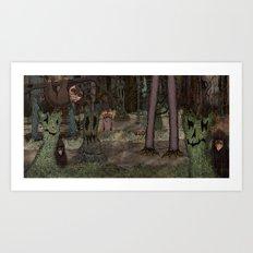 Monster Forest Art Print