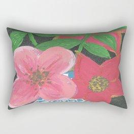 Flowers in a vase Rectangular Pillow